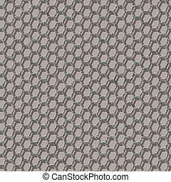 Seamless pattern - 3d hexagonal wire mesh