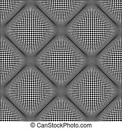 Seamless pattern. 3D optical illusion.