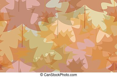 Seamless pattern abstract autumn leaves