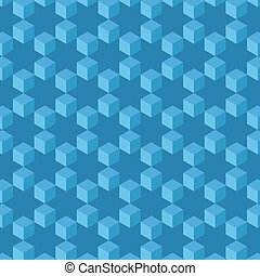 Seamless pattern abstract. Cubes and stars background