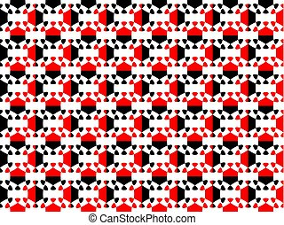 Seamless pattern. Abstract geometric figure of black and red colors. Vector