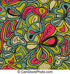 Seamless pattern abstract hand-draw