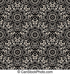 Seamless pattern. Abstract lacy ornament. Vector geometric art b