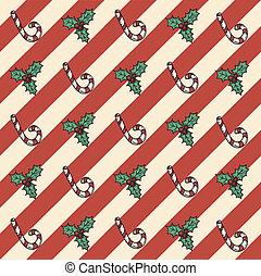 seamless, pattern:, achtergronden, kaarten, pakpapier, kerstmis, retro