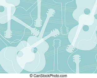 Seamless pattern acoustic guitar - Seamless pattern with...