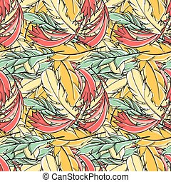 Seamless pattern all feathers