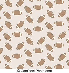 Seamless pattern american football. Equipment and goal, oval...