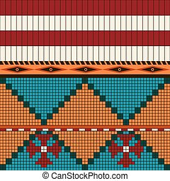 Seamless pattern American indian