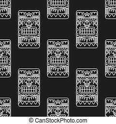 seamless pattern ancient American ornaments