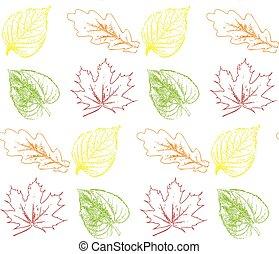 Seamless pattern autumn leaves