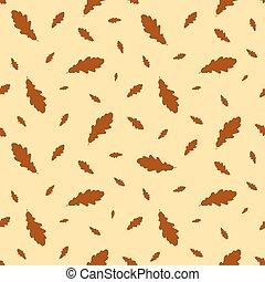 Seamless pattern autumn leaves oak