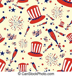 Seamless pattern background for 4th of July Independence Day America
