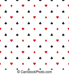 Seamless pattern background of poker suits - hearts, clubs,...