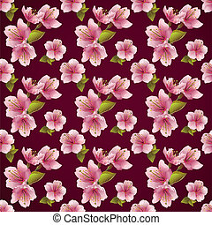 Seamless pattern background with cherry blossom