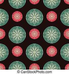 Seamless pattern background with Christmas baubles
