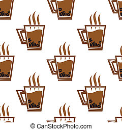 Seamless pattern background with coffee cups