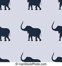 Seamless pattern background with cute elephants. Vector EPS10 illustration.