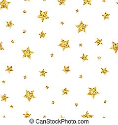 Seamless pattern background with gold stars.