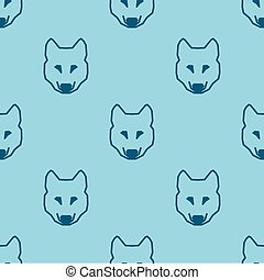 Seamless pattern background with low poly wolf