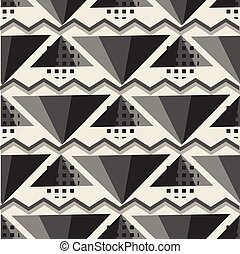 seamless pattern background with monochrome geometric