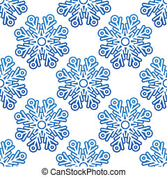 Seamless pattern background with snowflakes