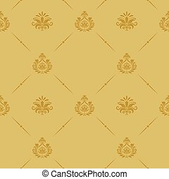 Seamless pattern baroque style. Retro vintage background...