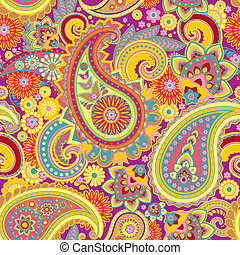 Paisley - Seamless pattern based on traditional Asian ...