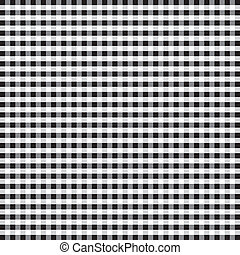 Seamless Pattern, Black Gingham