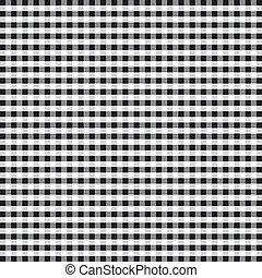 Seamless Pattern, Black Gingham