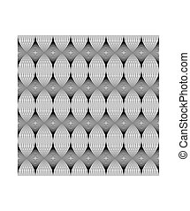 Seamless pattern, Black line.