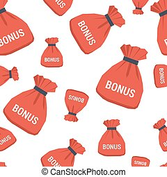 Seamless pattern - bonus bag