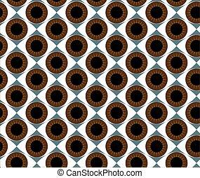 Seamless pattern brown eyes