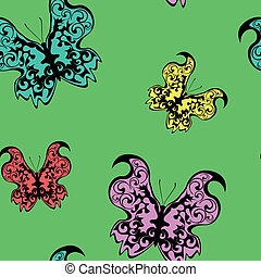 Seamless pattern - butterflies