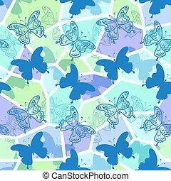 Seamless Pattern, Butterflies