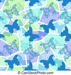 Seamless Pattern, Butterflies