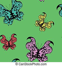 Seamless pattern - butterflies