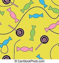 Seamless pattern candy