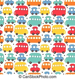 Seamless pattern car