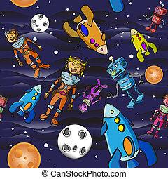 Seamless pattern cartoon children