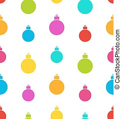 Seamless Pattern Christmas Balls