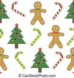 Seamless pattern, Christmas (new year). Christmas tree,...