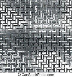 seamless, pattern., chrom, texture.