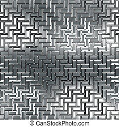 seamless, pattern., chrome, texture.
