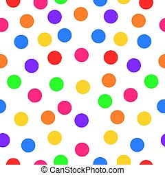 Seamless pattern circle with nice bubble candy colors
