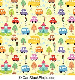 Seamless pattern City