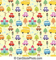 Seamless pattern City