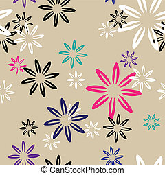 seamless pattern color flowers