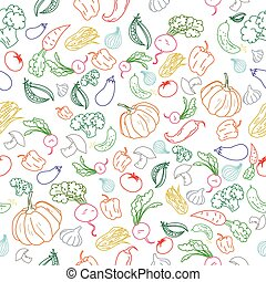 Seamless pattern color vegetables background