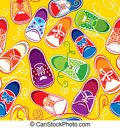 seamless pattern - colored children