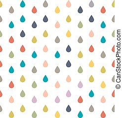 Seamless pattern colored rain drops